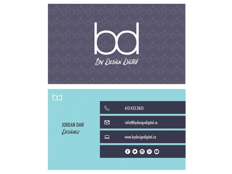 Our own personal business card for By Design Digital. | Business ...
