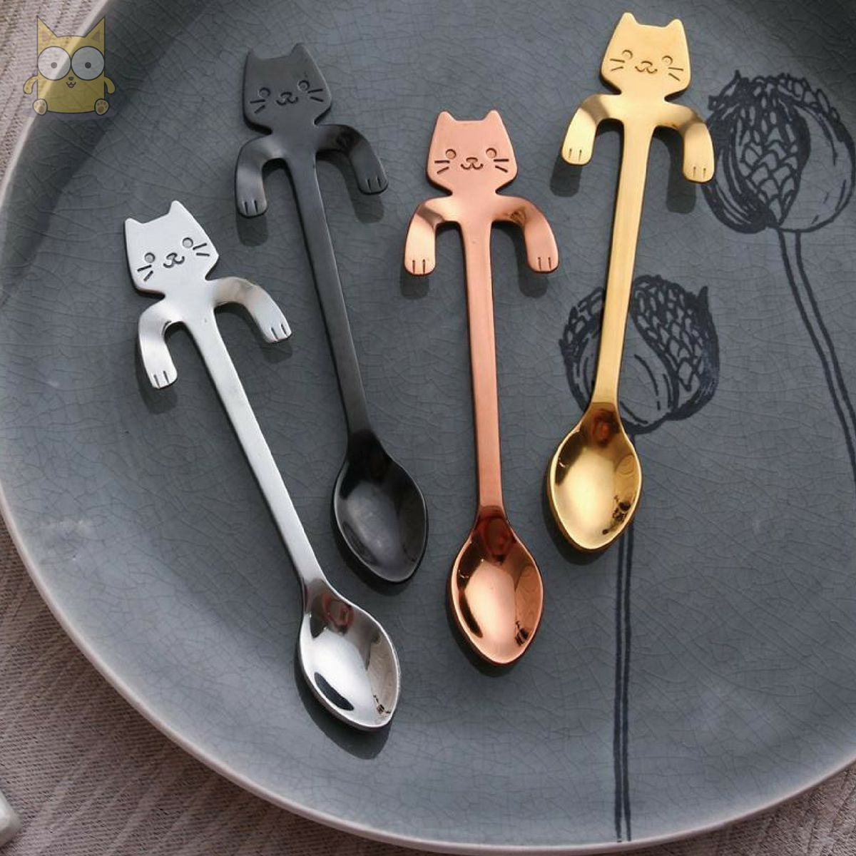 Stainless Steel Cat Teaspoons