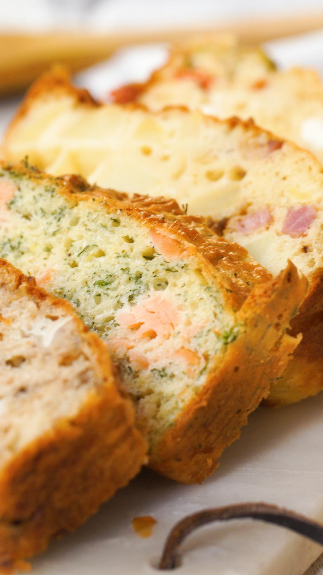 Cakes salés 4 façons #aperodinatoirefacile