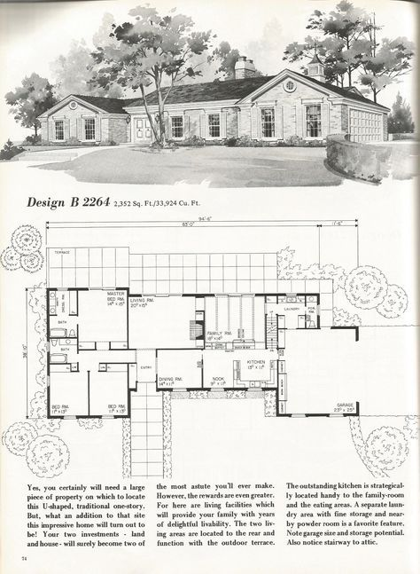 Vintage House Plans 2264 House Plans With Pictures Vintage House Plans Mid Century Modern House Plans
