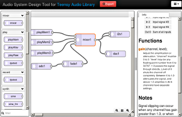 Teensy Audio Library, high quality sound processing in Arduino