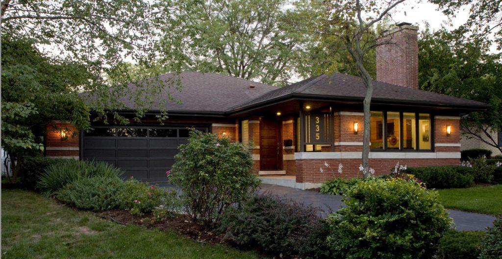 modern prairie style renovation - exterior color scheme, red brick