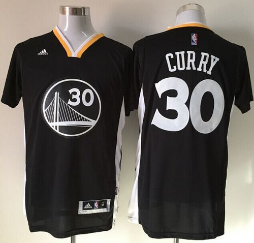 7e8916998 Warriors #30 Stephen Curry New Black Alternate Stitched NBA Jersey ...