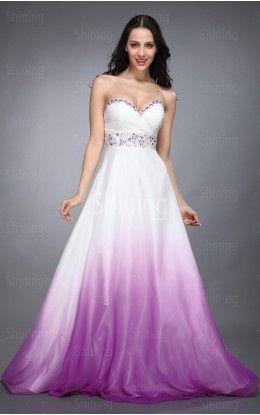 Dip Dye Wedding Gown   ... the dip dye idea! Multi Colours A-line ...