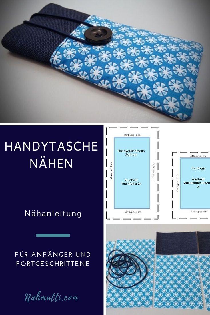 Eine Handytasche nähen ist viel einfacher, als Du denkst. Kombiniere unterschiedliche Stoffe und gestalte Dein eigenes Taschendesign. Erstelle Dir mit Hilfe der Schablone eine Vorlage und folge den bebilderten Nähschritten.