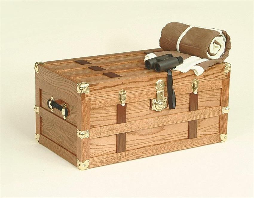 Amish oak wood storage trunk amish hope chest collection