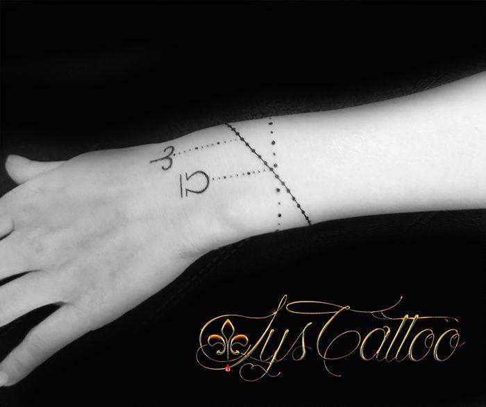 tatouage bracelet signes du zodiaque breloques pampilles bijou par