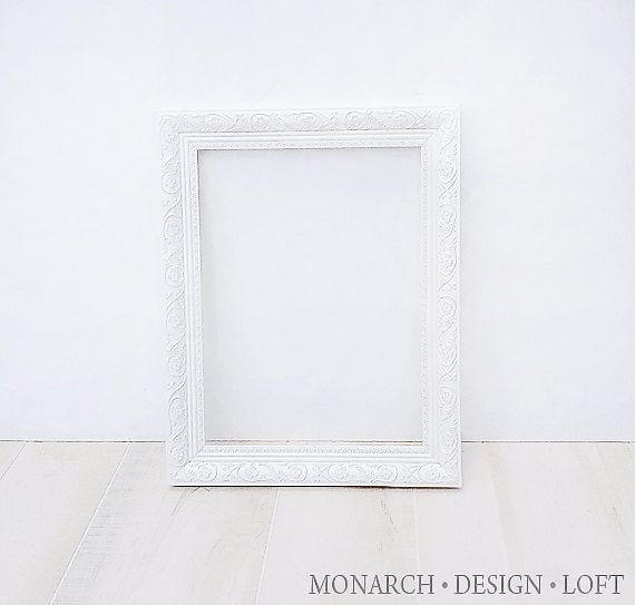 Large White Shabby Chic Picture Frame Image collections - origami ...