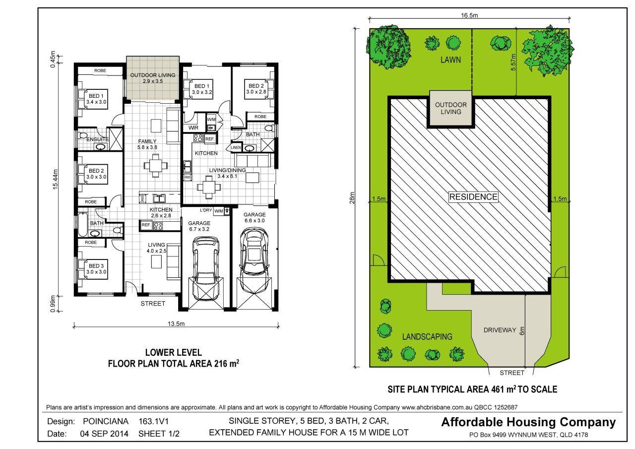 dual occupancy house plans - Google Search | Duplex House Plans ...