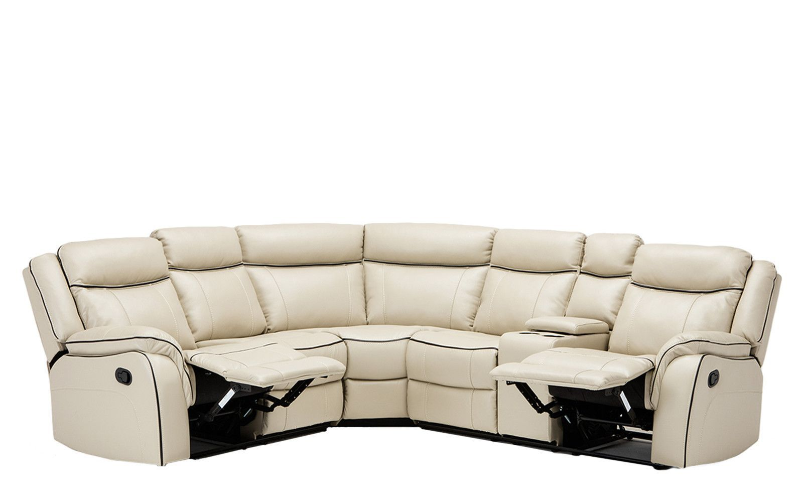 Paul Clic Bonded Leather Recliner Sectional
