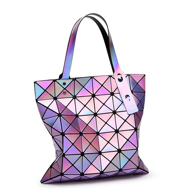 3085d69b60c8 Baobao Rainbow Geometry Japanese-style 3D Gradient Tote Handbag Shoulder  Messenger Bag