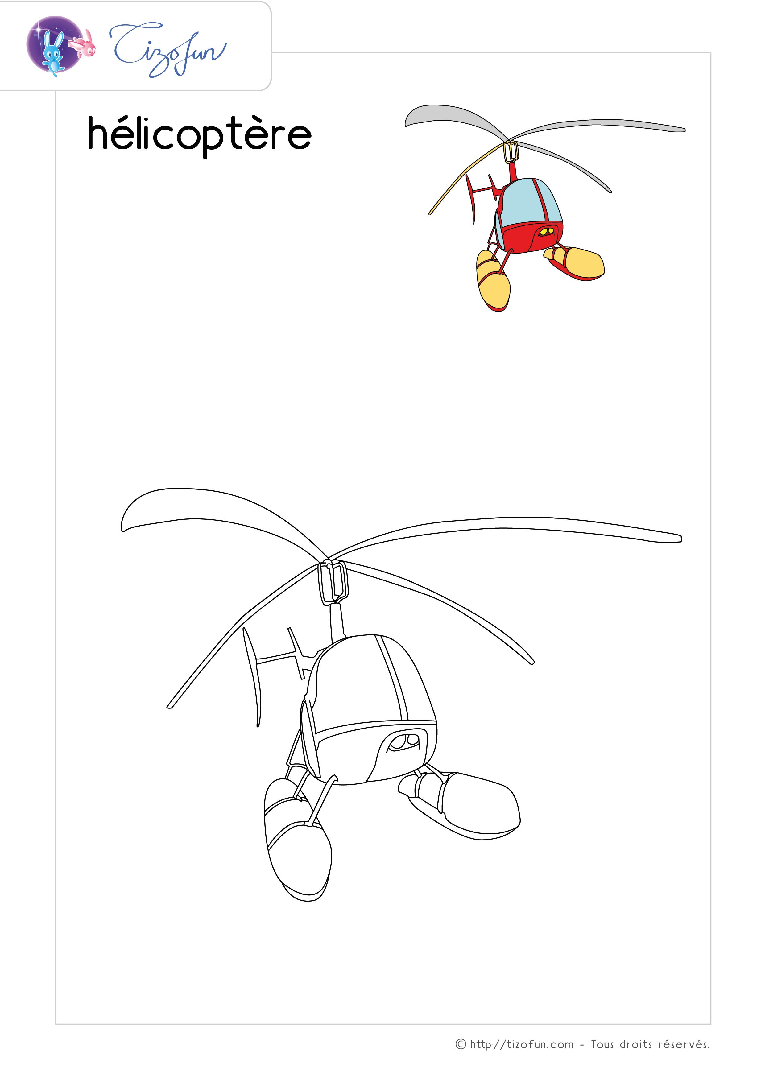 Coloriage Transport Dessin Helicoptere Coloriage Dessin Dessin
