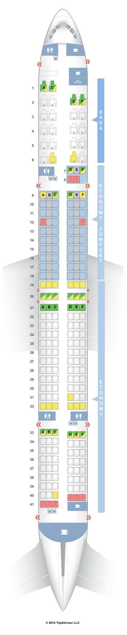Seatguru seat map icelandair boeing also best images rh pinterest