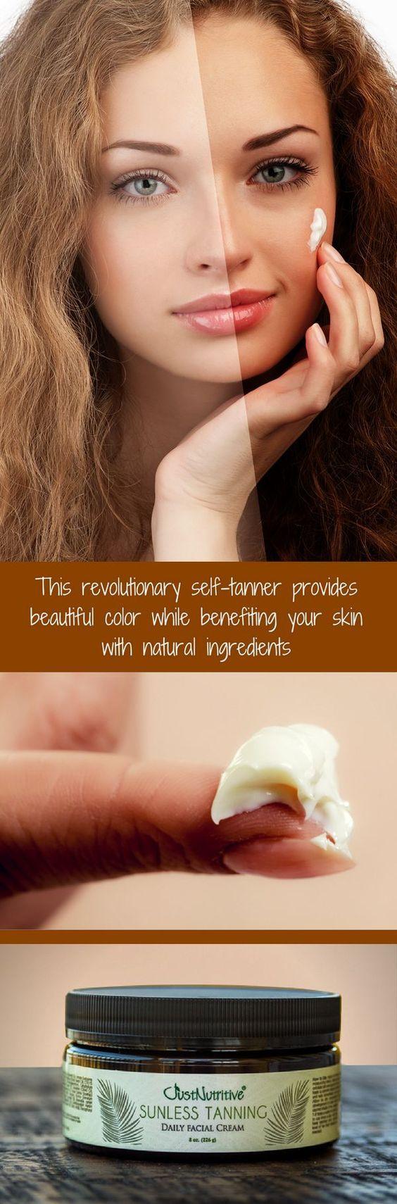 Sunless Tanning Daily Facial Cream Tanning skin