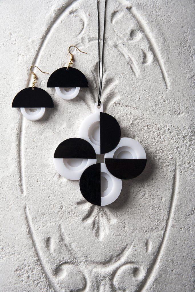 ca1a1b8a2 Athena Necklace and Earrings Set. | Hoop, Dangle Earring | Earrings ...