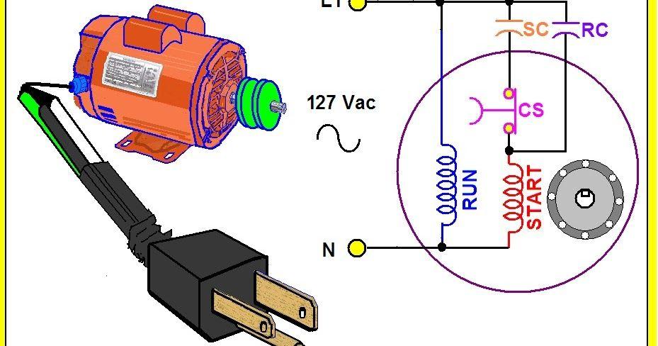 El Motor Monofásico Con Dos Capacitores Combina Las Ventajas Del Motor Con Capacitor De Arranq Esquemas Electricos Motor De Lavadora Imagenes De Electricidad