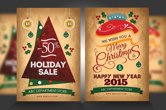 New Year  Christmas Flyers By Satgur Design Studio On Creative