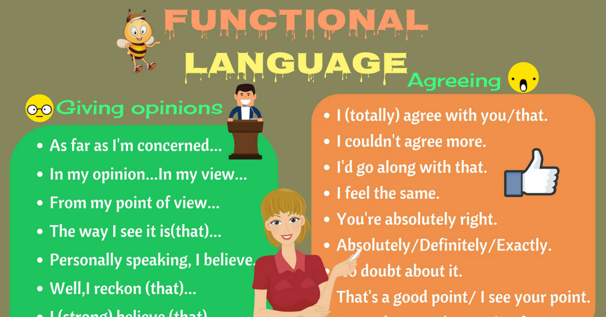 Functional Language: Useful English Phrases for Discussion