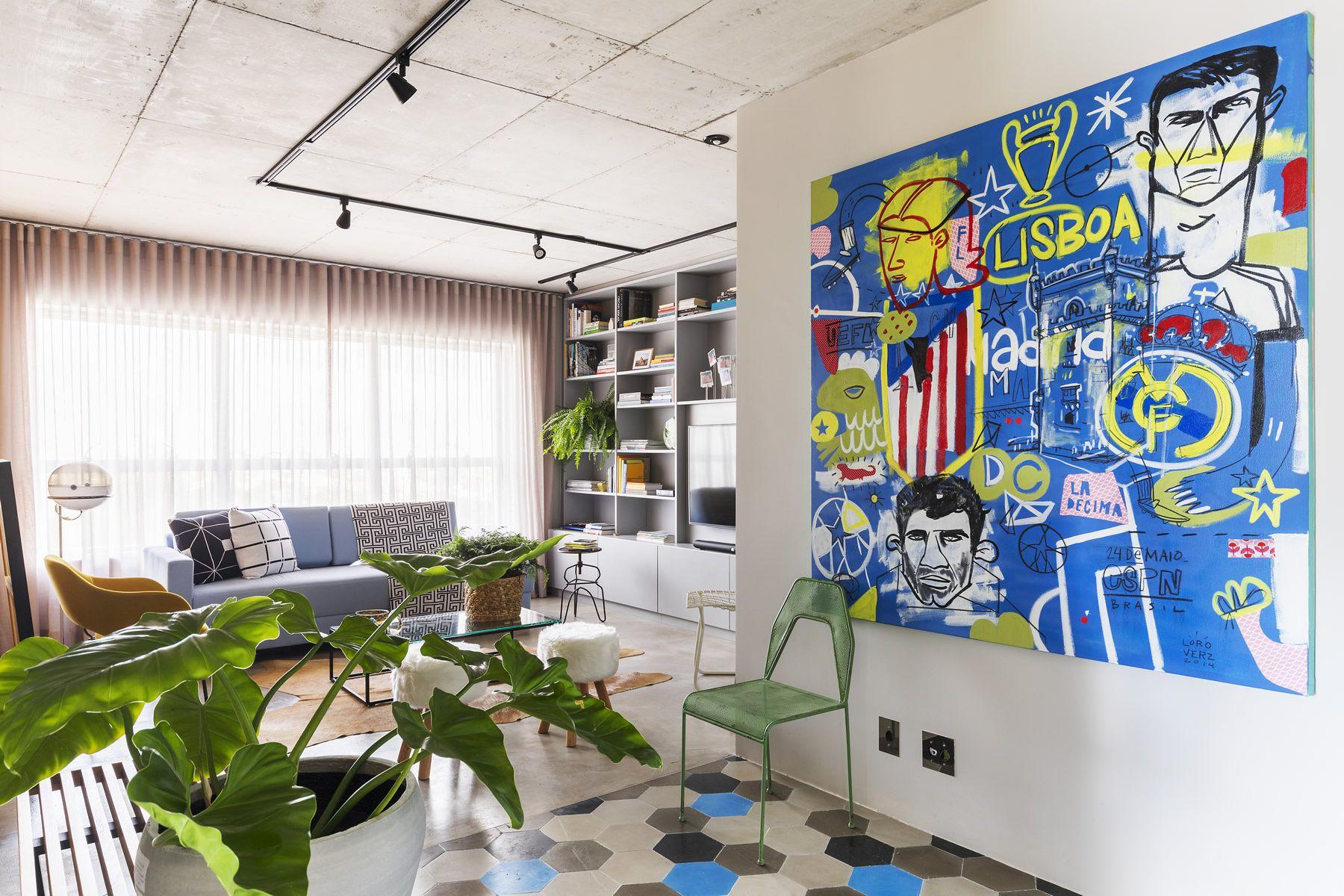 Retro Art Woonkamer : Deze moderne woonkamer heeft een stoer vintage tintje gekregen m