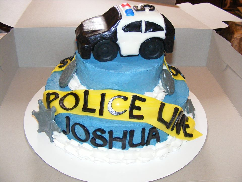 Police Car Cake Planes Trains and Automobiles Cakes Pinterest