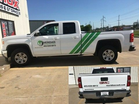 We Completed Another Fleet Vehicle For Meridian Roofing Knox Signs Graphics 5612 D Sw Topeka Blvd Topeka K Monument Signs Channel Letters Custom Wraps