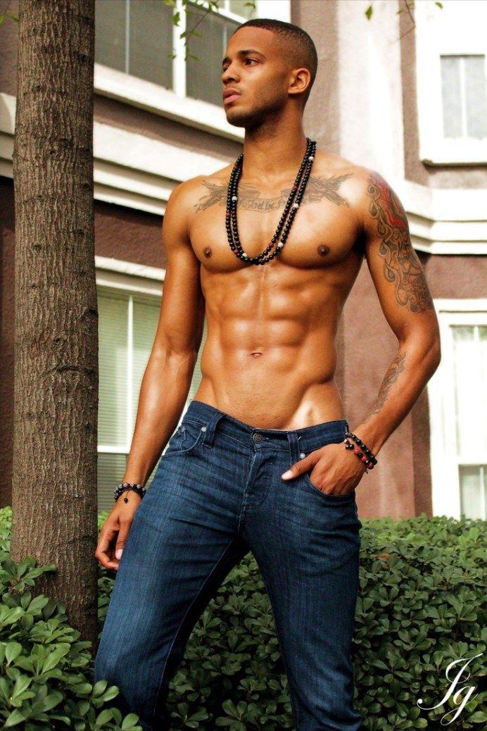 Handsome sexy black men