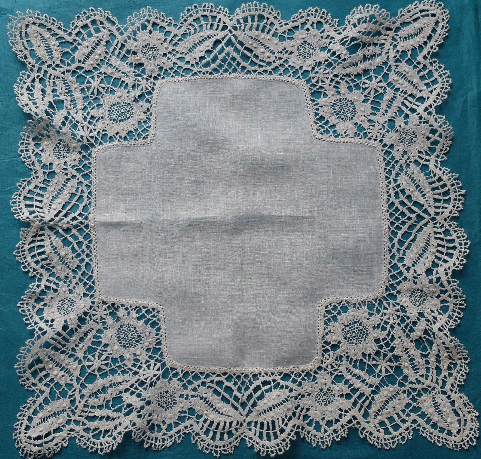 Antique Vintage Beds Lace Handkerchief | eBay