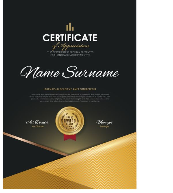 Luxury Diploma And Certificate Template Vector Design 10 Https
