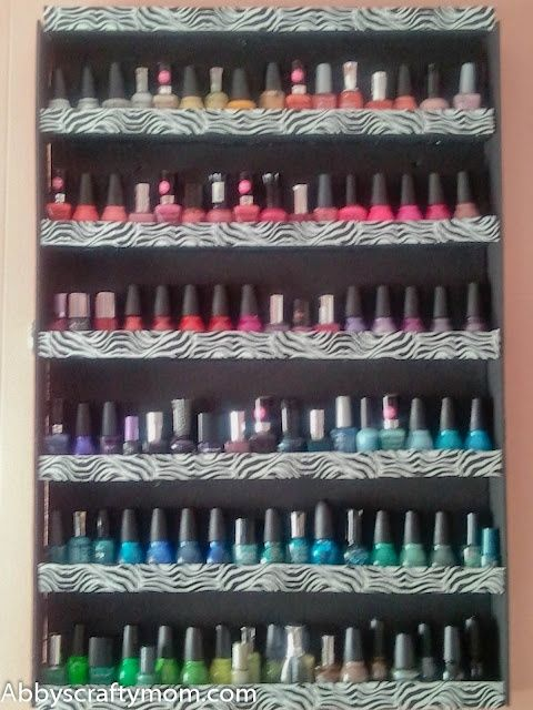 DIY Nail Polish Rack made out of foam boards and duct tape! I need ...