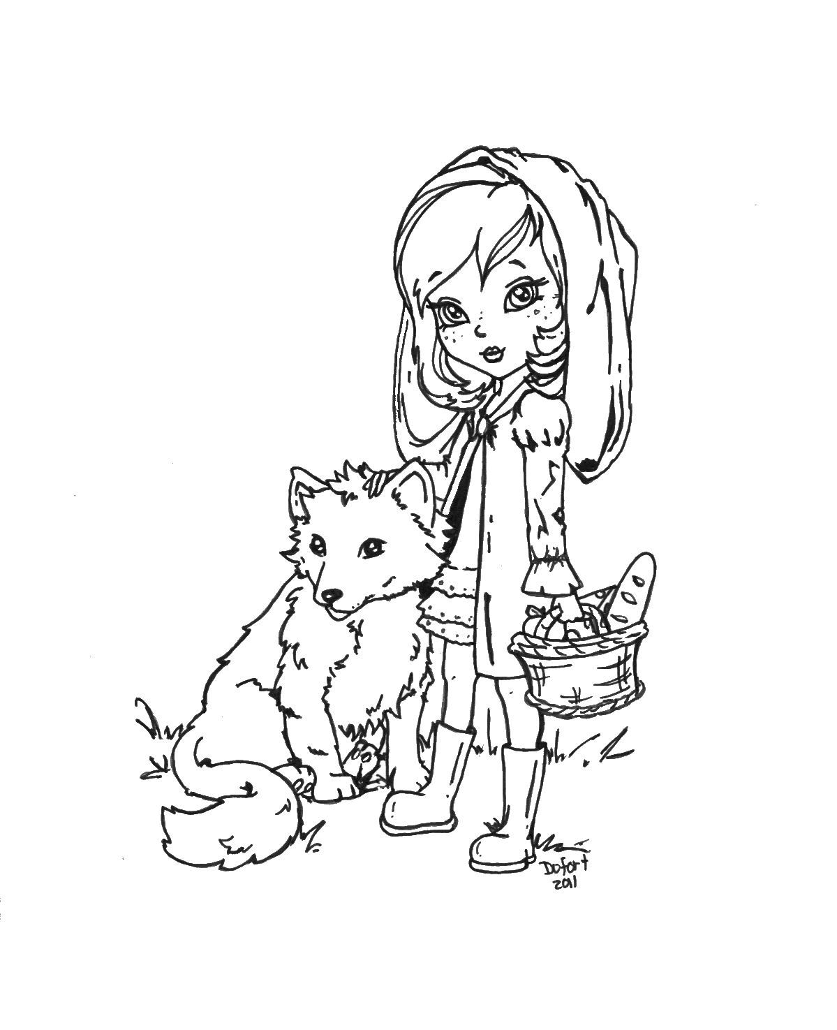 Image Detail For Little Red Riding Hood Coloring Picture