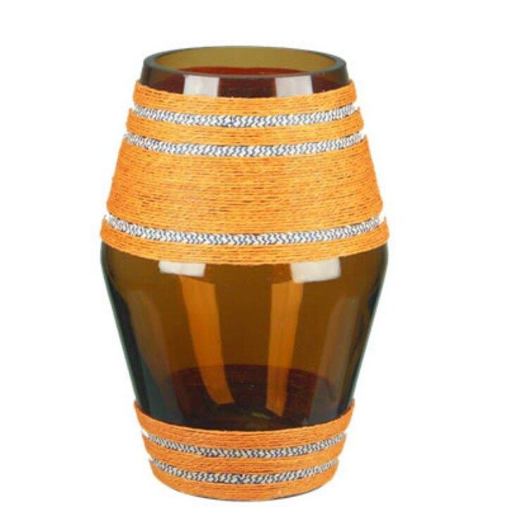 Textured glass vase