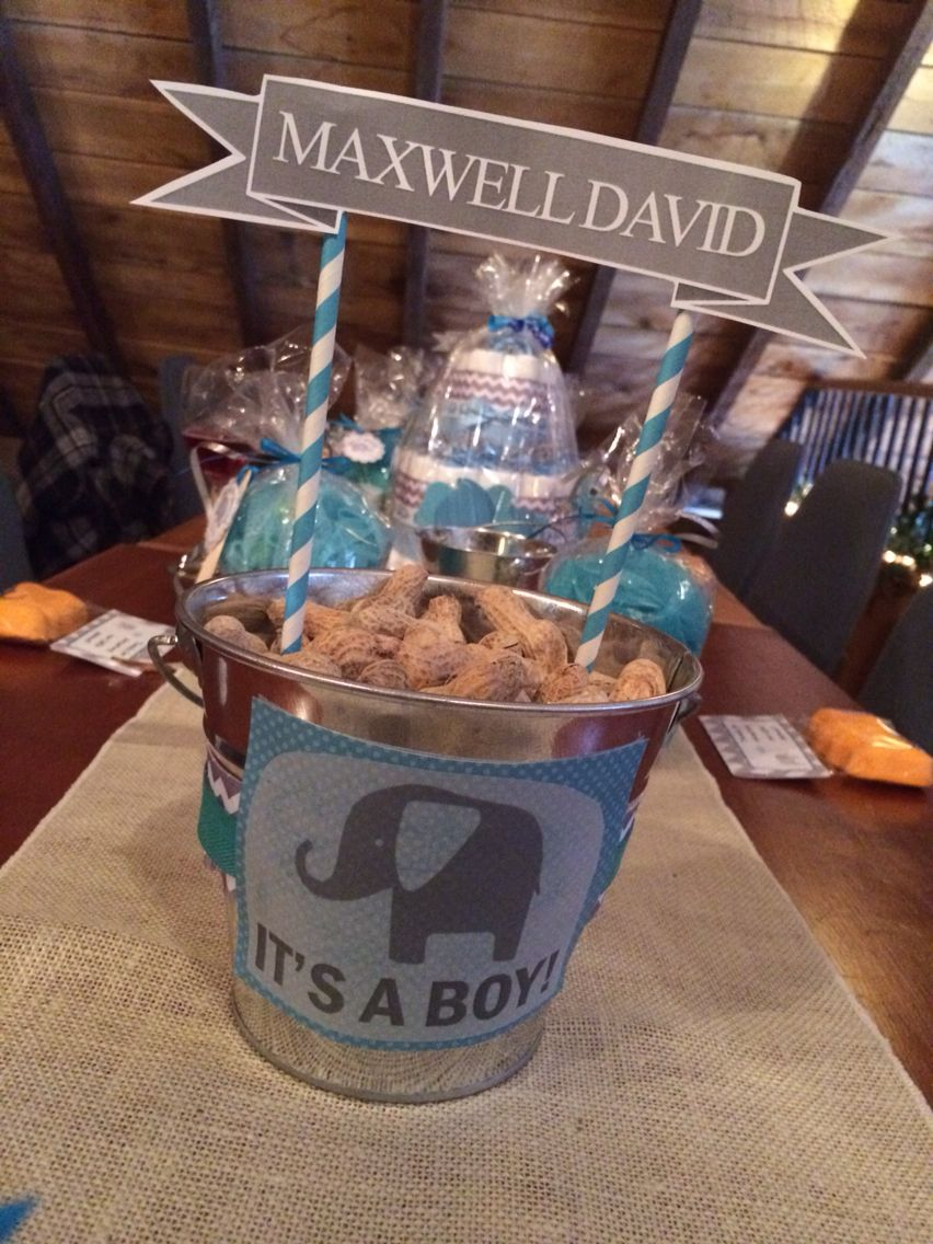 elephant trendy baby shower ideas | Paul of Peanuts Centerpieces for the Elephant themed baby ...