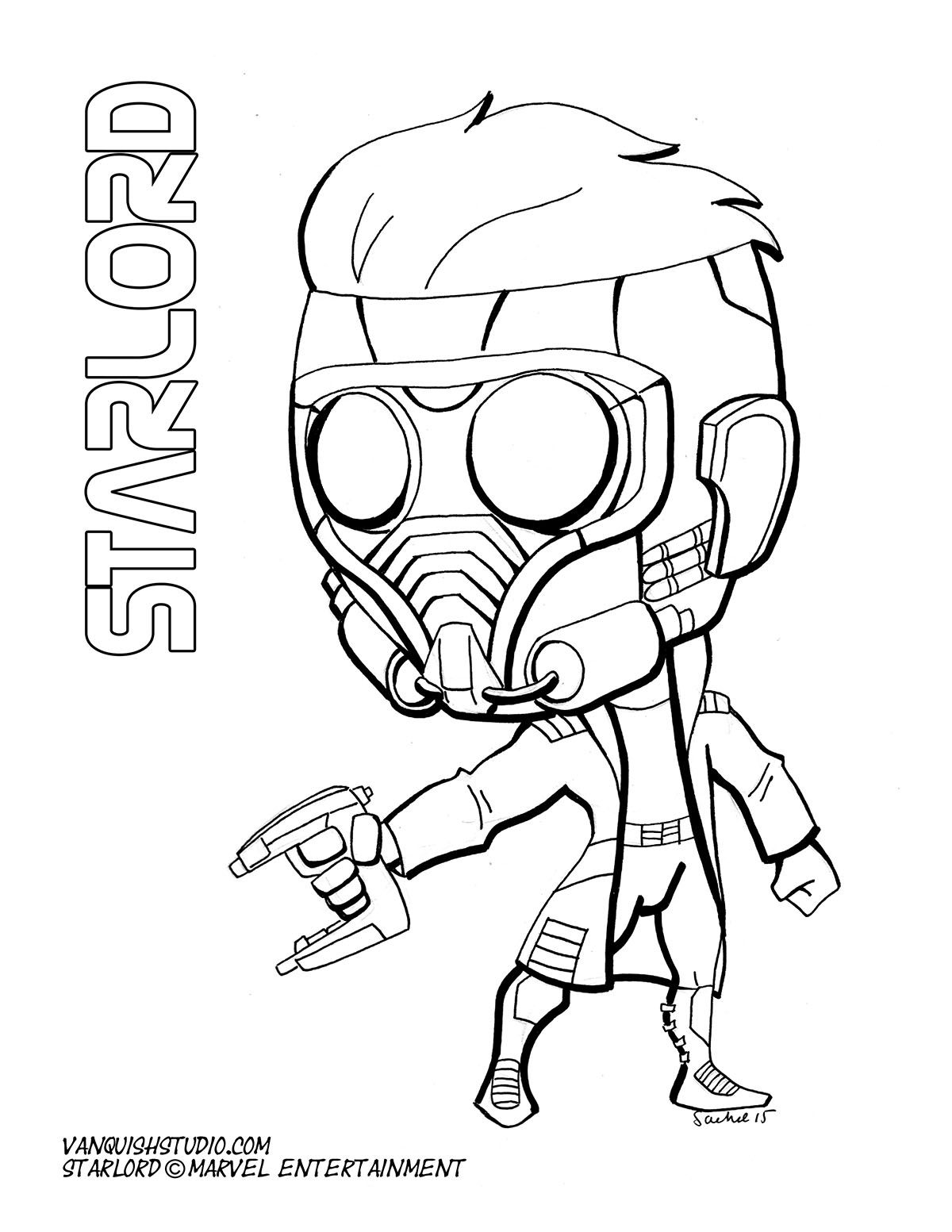 Chibi Fusion Starlord Superhero Coloring Pages Unicorn Coloring Pages Superhero Coloring
