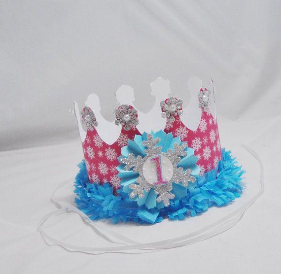 Girl Winter Onederland Crown 1st Birthday por CardsandMoorebyTerri
