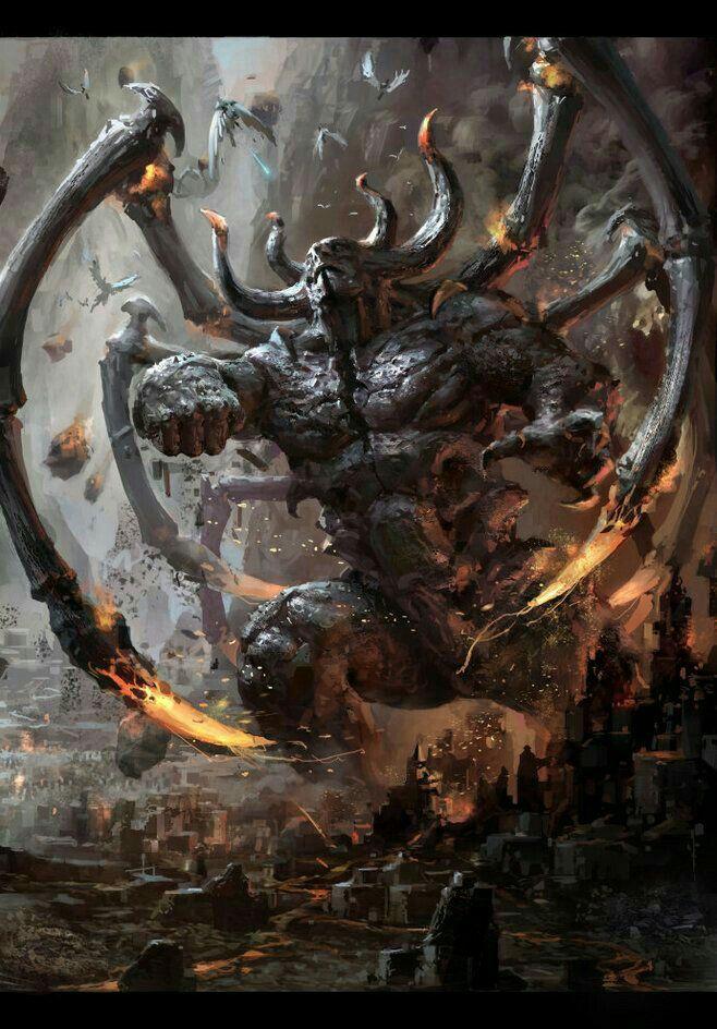 Taurus Es un demonio que descansa en una ruina enana ...