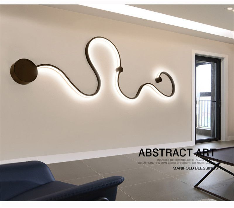 Modern Simple Led Wall Lights Art Designs Creative Wall Lamp Creative Lighting Fixture For Bedr Creative Lighting Fixtures Art Deco Wall Lights Led Wall Lights