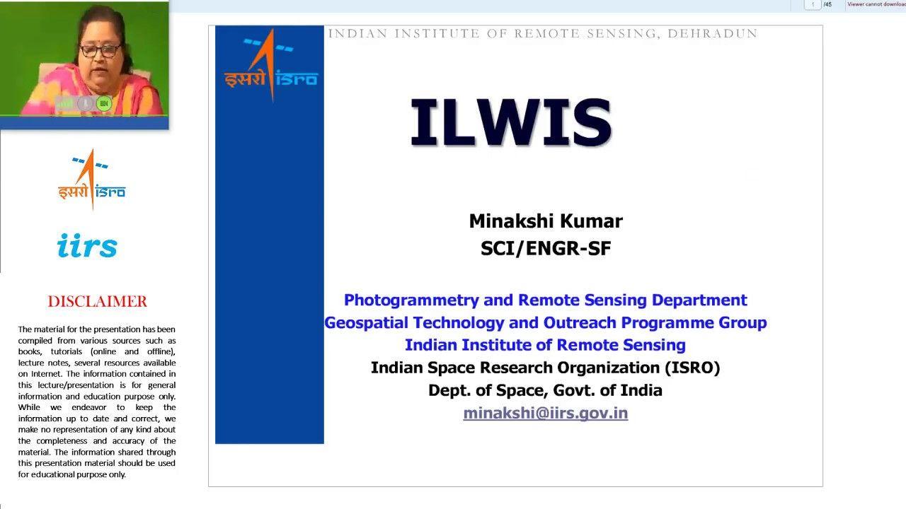 Image Processing Using Free Software Ilwis Image Processing Remote Sensing Indian Space Research Organisation