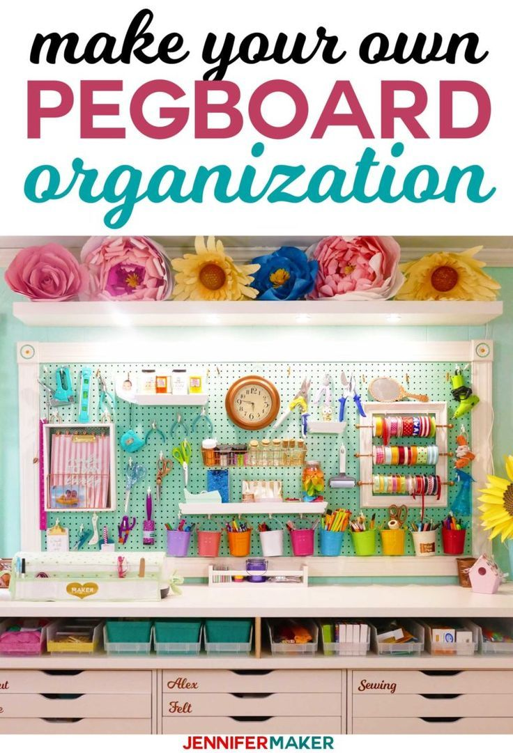 Large Framed Pegboard to Organize Your Craft Room | Escritorios ...
