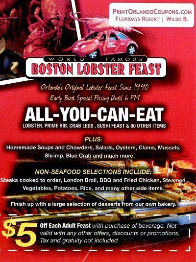 Boston Lobster Feast Coupon Boston Lobster Feast Lobster Feast Feast
