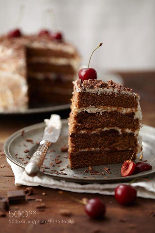 Cake chocolat cerise by lucasmuller  IFTTT 500px cake cerise chocolat chocolate culinaire delicious dessert food fruit wedding