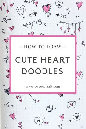Cute Heart Doodles You Can Draw | Doodles, Bullet journal ...