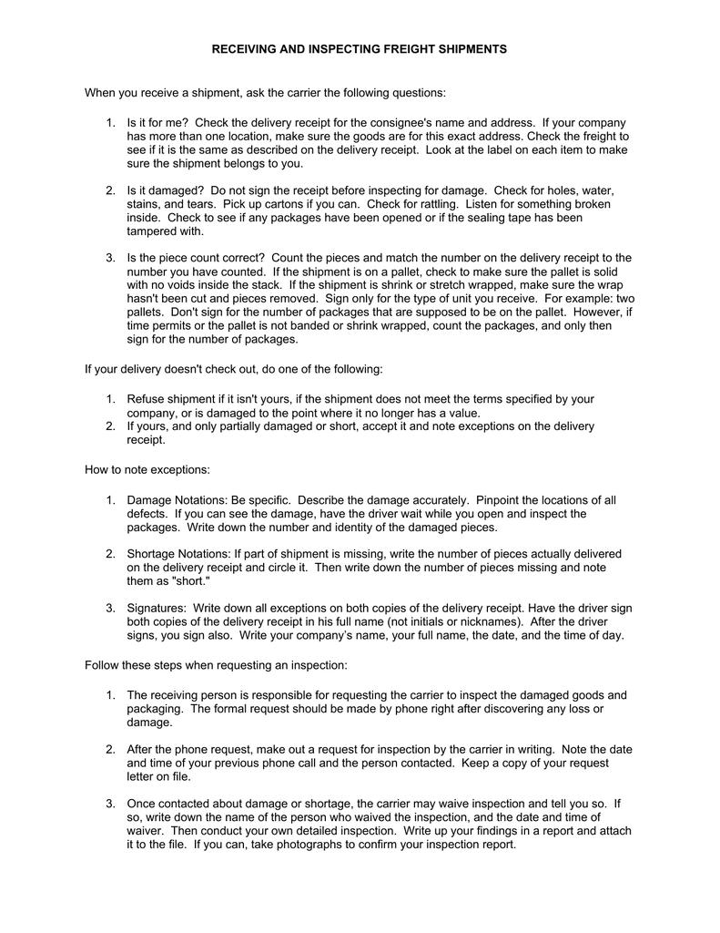 sample claim letter lost shipment receipt resume cover monetary ...