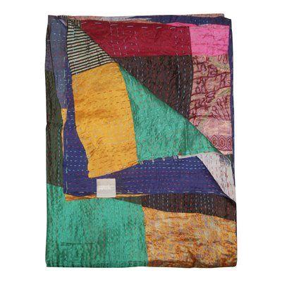 Bloomsbury Market Moorebank Silk Throw Wayfair In 2020 Cotton Throw Blanket Bloomsbury Market Kantha Throw