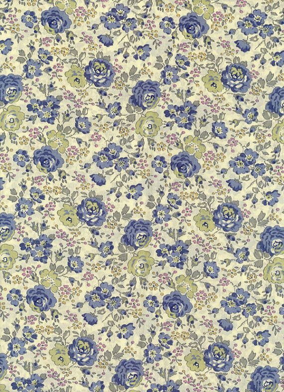 Felicite in Blue Liberty Tana Lawn Fabric by MissElany on Etsy, $4.30