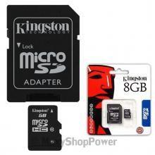 KINGSTON MEMORY CARD MICROSD HCI 8GB CLASSE-10 MEMORIA PORATILE SD UNIVERSALE CON ADATTATORE ORIGINALE BLISTER CONFEZIONE BLACK NERO - SU WWW.MAXYSHOPPOWER.COM