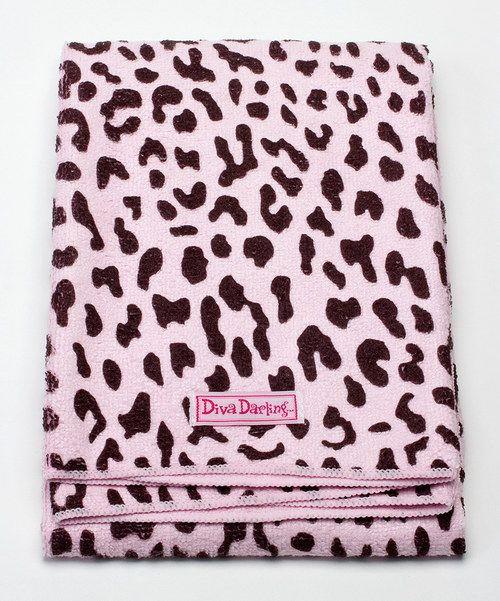 Look at this Diva Darling Pink Leopard Diva Dryer Hair Towel on #zulily today!