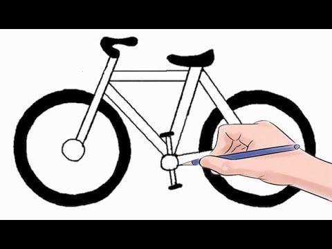 Wie Ein Fahrrad Einfach Schritt Fur Schritt Zu Zeichnen Youtube