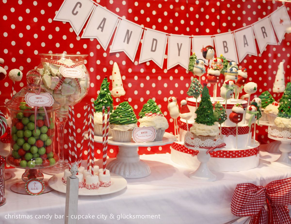 Christmas Candy Tables Christmas Candy Bar Sweet Table Cupcake