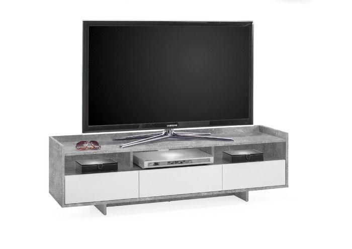 TV-Lowboard  - Ghost  - Beton | Online kaufen bei Segmüller