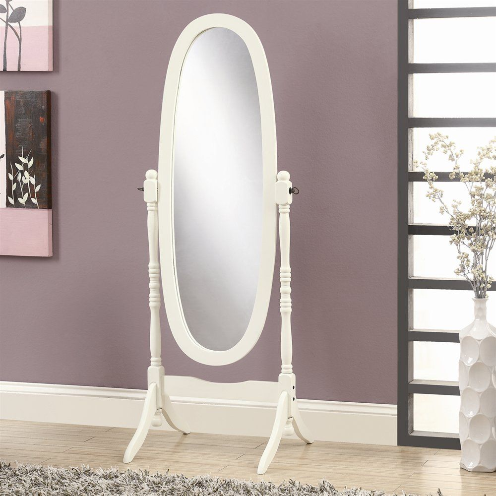 stephanie stand alone mirror preferably white and this style